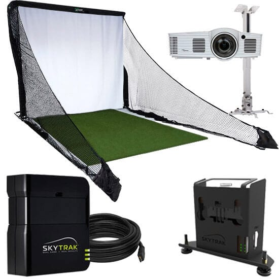 SkyTrak Budget Golf Simulator Package Included