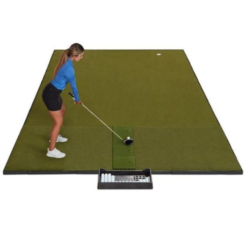 Fiberbuilt Combo Golf Mat & Putting Green - Center Hitting (10' x 16')