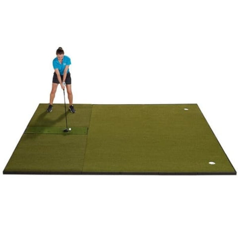 Fiberbuilt Combo Golf Mat & Putting Green - Center Hitting (10' x 12')