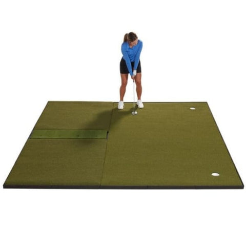 Fiberbuilt Combo Golf Mat & Putting Green - Center Hitting (10' x 10')