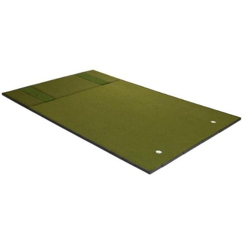 Fiberbuilt Combo Golf Mat & Putting Green - Center Stance (10' x 16')
