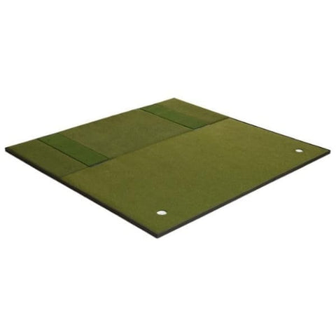 Fiberbuilt Combo Golf Mat & Putting Green - Center Stance