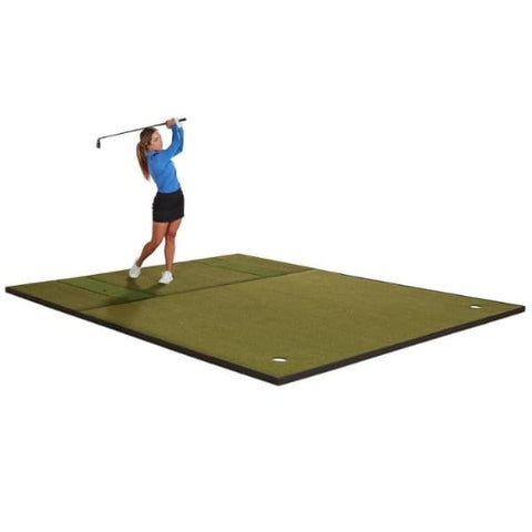 Fiberbuilt Combo Golf Mat & Putting Green - Center Stance (10' x 12')