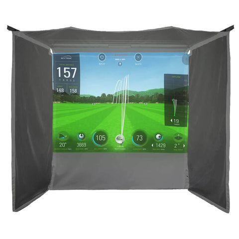 HomeCourse Pro Retractable Golf Simulator Screen Enclosure - Rain or Shine Golf