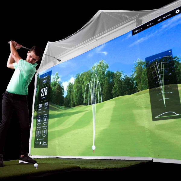HomeCourse Retractable Golf Simulator Enclosure
