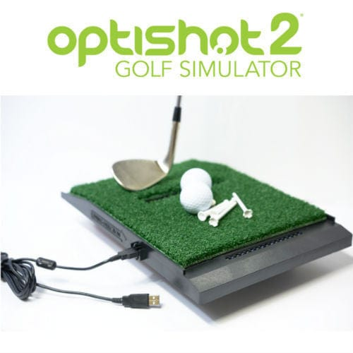 Portable Golf Simulator with OptiShot 2, Hitting Mat, Net Return Pro Practice Net, Impact Screen, & Projector
