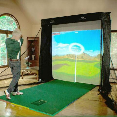 OptiShot 2 Platinum Golf Simulator Series Studio Package