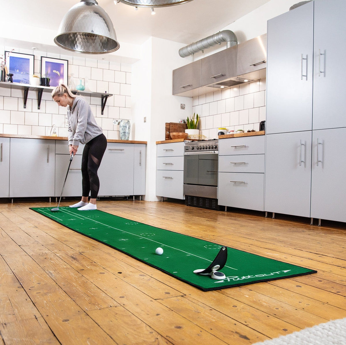 PuttOut Putting Mat and Trainer
