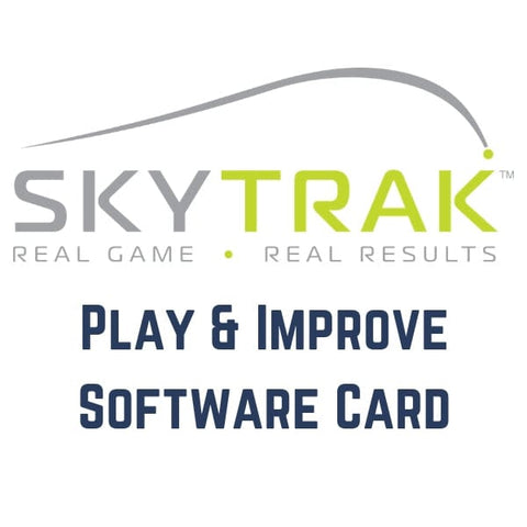 SkyTrak Tee Off - Play and Improve Software Card - First Year Subscription