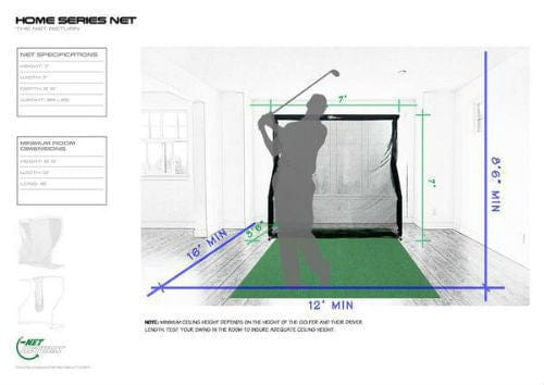 net return home golf size dimensions chart