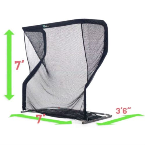 angle view net return home golf size dimensions