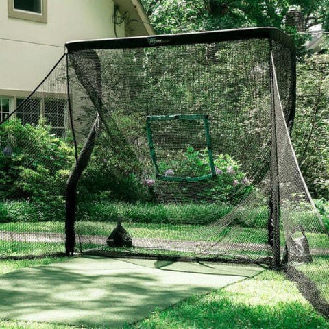 net return home golf package with side barriers net target turf mat