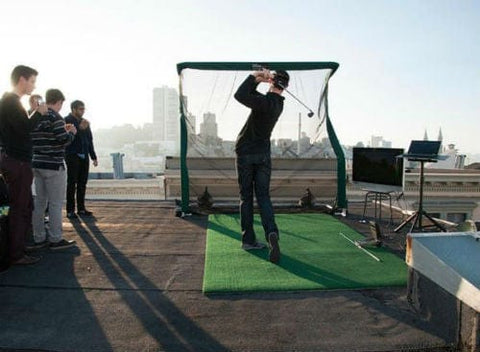 net return home golf with skytrak rooftop