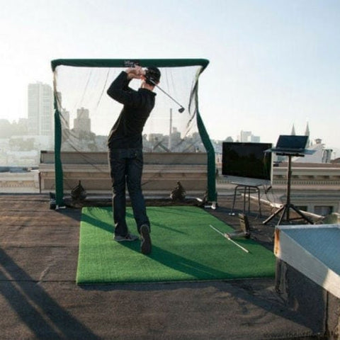 net return home golf pro turf mat on rooftop