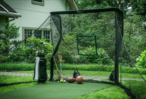 net return home golf pro turf side netting 2x2 practice hitting target