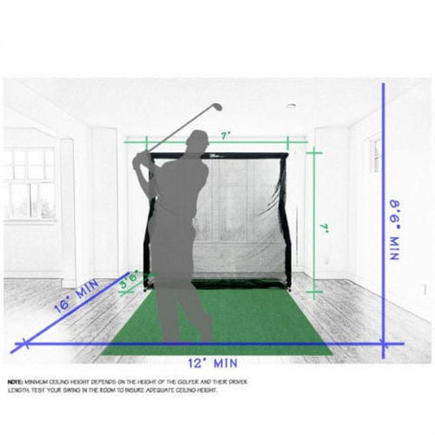 net return home golf with pro turf package size dimension