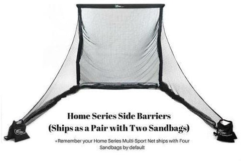 The Net Return Home Series Side Barriers - (2 Sandbags Included) - Rain or Shine Golf