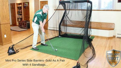 The Net Return Mini Pro Series Side Barriers - (With 4 Sandbags) - Rain or Shine Golf