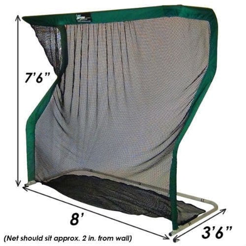 Portable Golf Simulator with Practice Net, OptiShot 2, and Hitting Mat