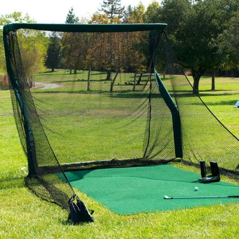 The Net Return Pro Series V2 Golf Net & Mat Package