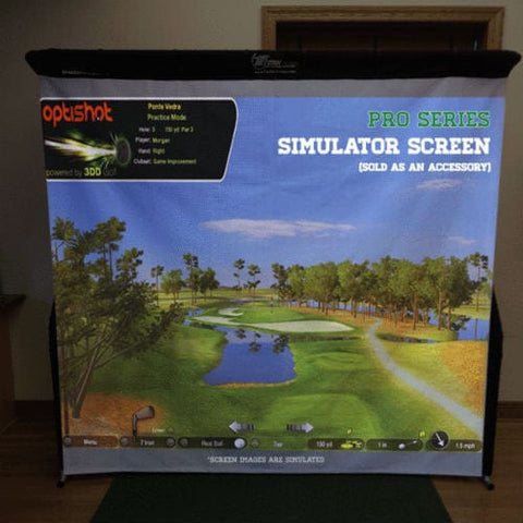 net return pro golf simulator screen optishot projection