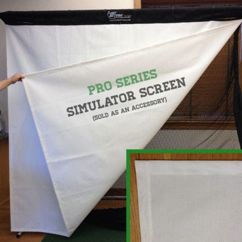 Golf Simulator Projector Impact Hitting Screen - Pro Series from The Net Return