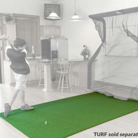 net return pro turf golf hitting mat with faded net background