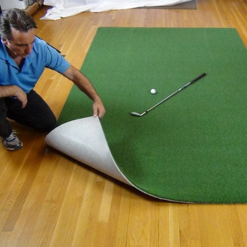 net return pro turf golf hitting mat peeled up base
