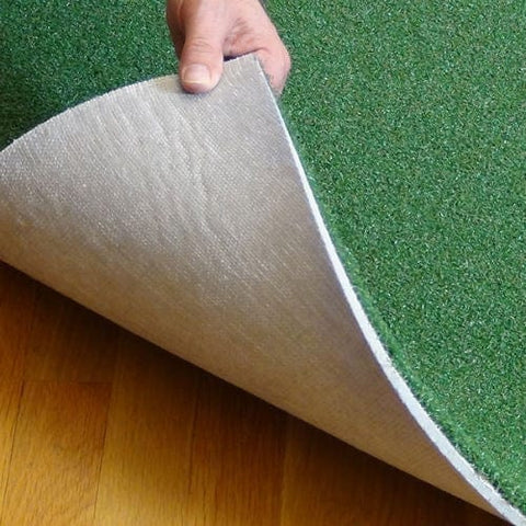net return pro turf golf hitting mat peeled up base close up