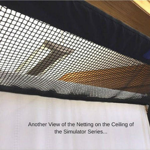 net return golf simulator series netting close up