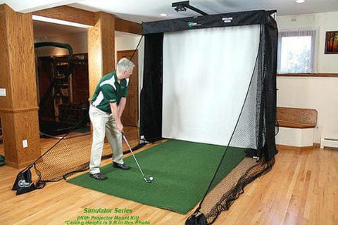 net return golf simulator series with turf paul crawley demonstration
