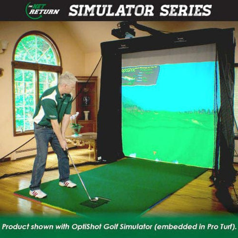 net return golf simulator series with optishot and software demonstration