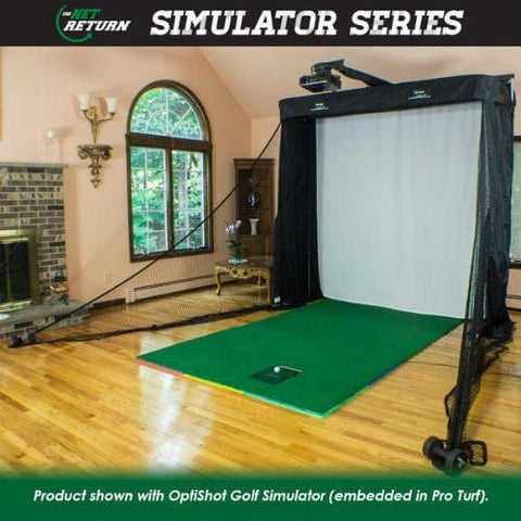 Golf Simulator Impact Screen & Hitting Net Enclosure Studio by Net Return