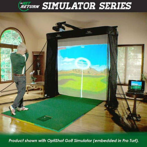 net return golf simulator series with optishot and software