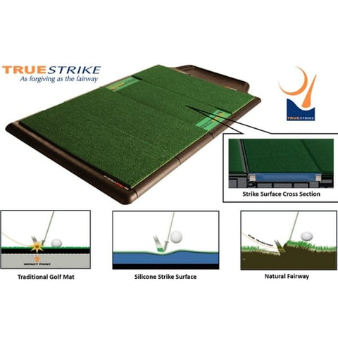 TrueStrike Single Golf Hitting Mat Cross Section