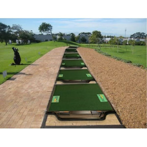 TrueStrike Single Golf Hitting Mat - Lifestyle view