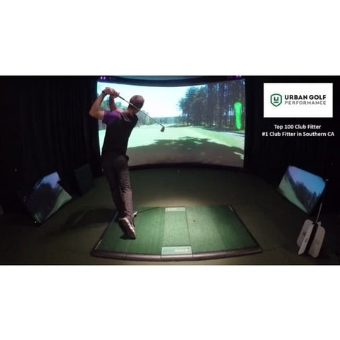 TrueStrike Single Golf Hitting Mat- lifestyle view