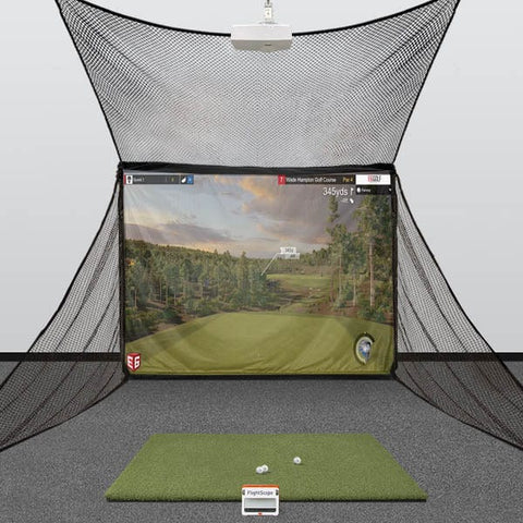 FlightScope Mevo+ HomeBay Golf Simulator Package