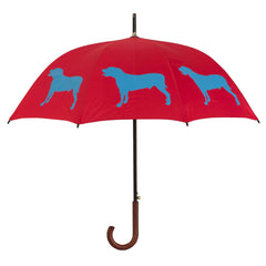 Pit Bull Terrier Umbrella Royal Blue on Red - sfumbrella.ca