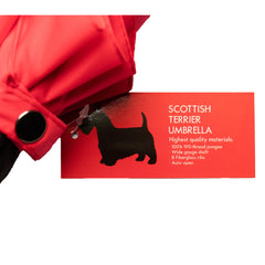 Scottish Terrier Umbrella Black on Red - sfumbrella.ca