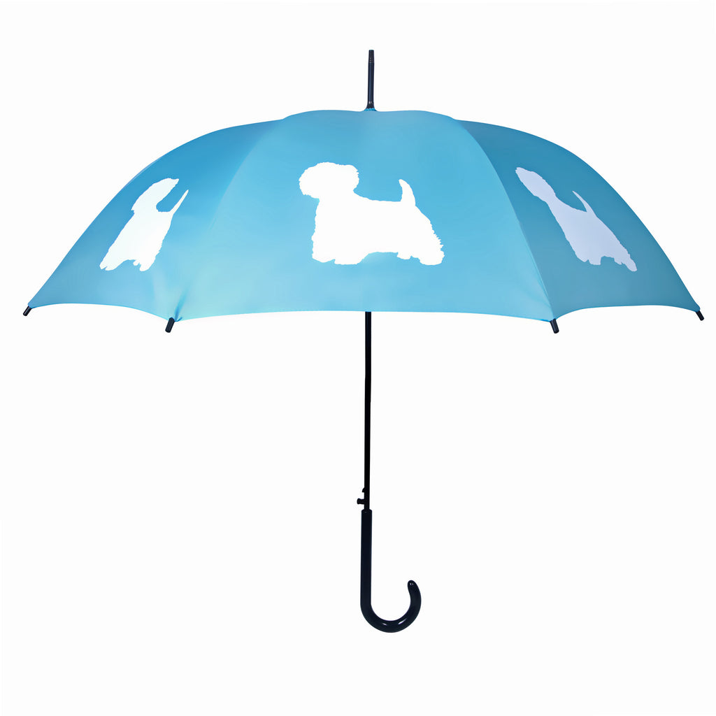 West Highland Terrier Umbrella White on Powder Blue - sfumbrella.ca