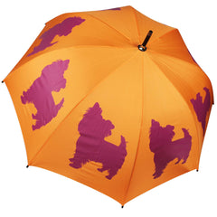 Yorkshire Terrier Umbrella Red on Persimmon Orange - sfumbrella.ca