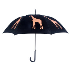 Giraffe Umbrella Orange on Black - sfumbrella.ca