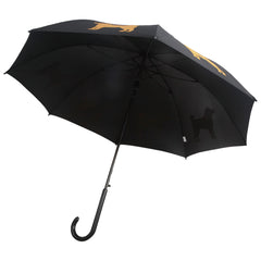 Shiba Inu Umbrella Gold on Black - sfumbrella.ca
