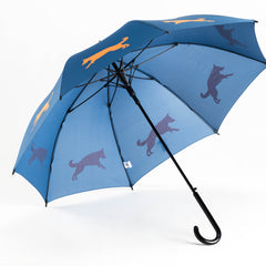 German Shepherd Umbrella Orange on Navy Blue - sfumbrella.ca