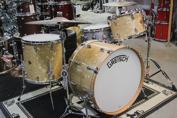 Gretsch Broadkaster 3 Piece Drum Set Antique Pearl