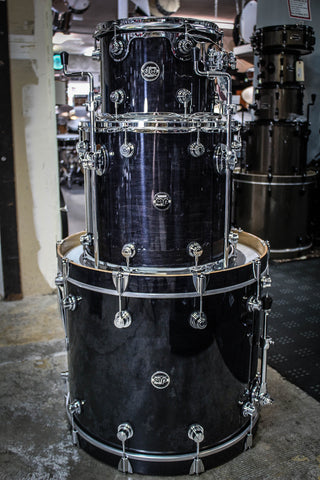 DW Performance Series 3 Piece Drum Set Ebony Stain