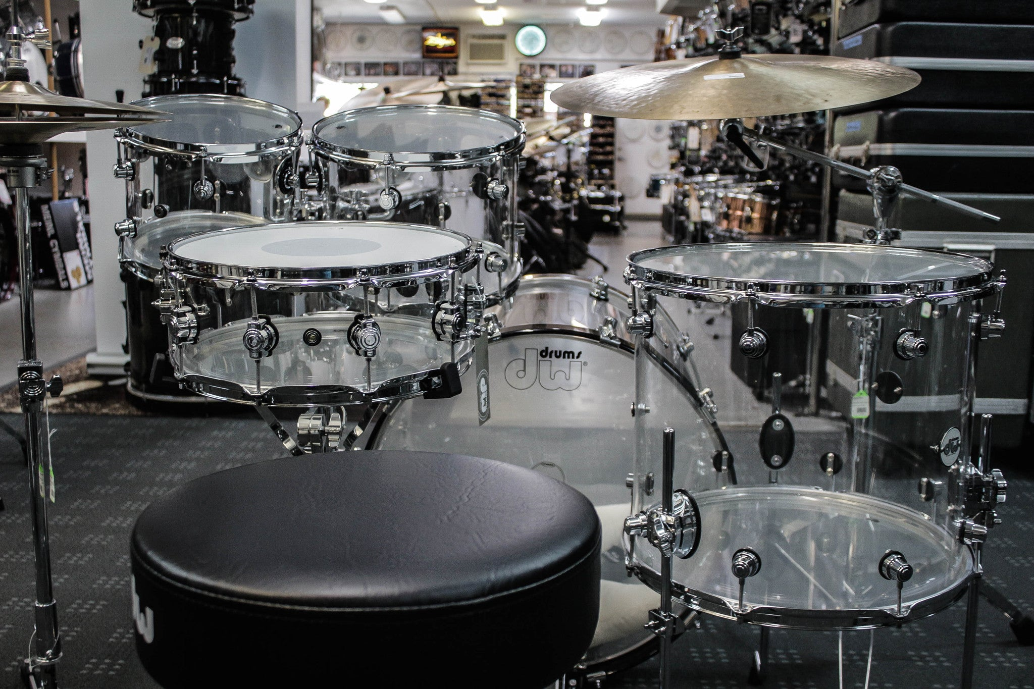 DW Design Series Acrylic 5 Piece Drum Set