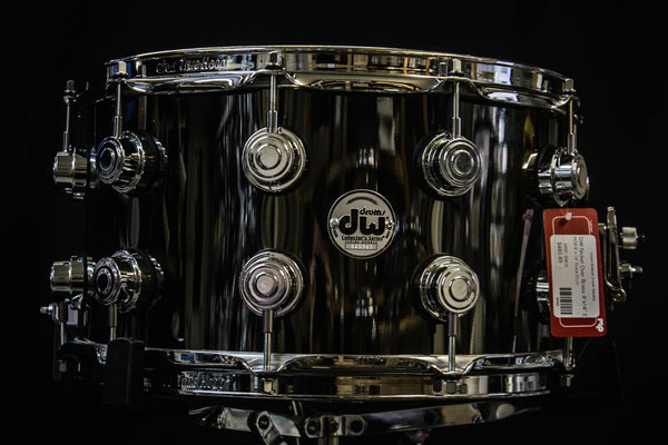 DW 8x14 Black Nickel Over Brass Snare Drum