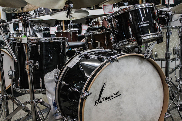 Sonor Vintage Series 3 Piece Drum Set Black Slate